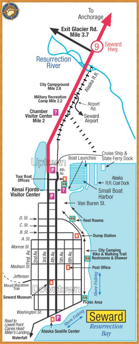 us map seward alaska get an alaska map maps by bearfoot guides maps of
