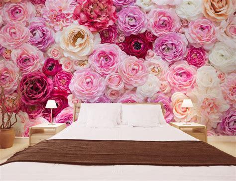 Tapisserie Florale by Papier Peint Photo Romantique Tapisserie Florale Les