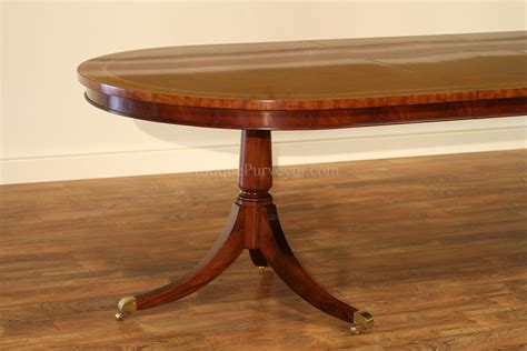 Pedestal Dining Room Table Large Oval Mahogany Pedestal Dining Room Table With Leaves Ebay