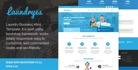 laundry website template laundryes laundry business html template by rudhisasmito