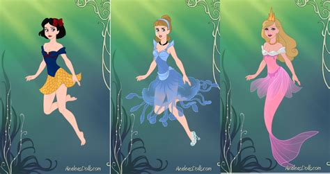 Disney Princess Mermaids 1 By Bigpinkbow197 On Deviantart Pictures Of Disney Princesses As Mermaids