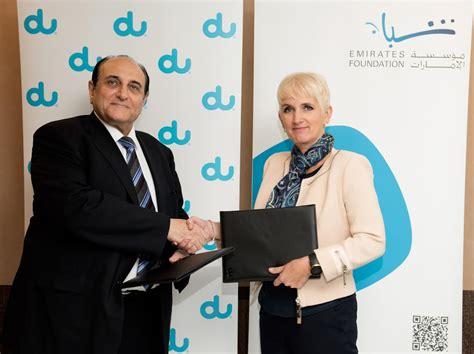 emirates youth foundation du pledges dh1m to emirates foundation emirates 24 7