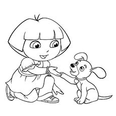 dora puppy coloring page puppys coloring pages murderthestout