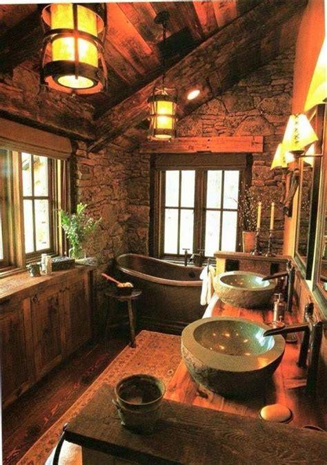 Cabin Bathrooms Ideas by Best 25 Log Cabin Bathrooms Ideas On Cabin