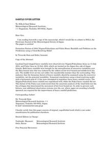 Cover Letter Exles Journal Article Cover Letter For Journal Article Sle