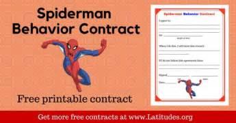 free printable behavior contracts for kids acn latitudes