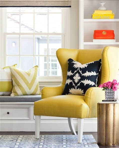 Yellow Occasional Chair Design Ideas Yellow Wingback Chair Contemporary Living Room Martha O Hara Interiors