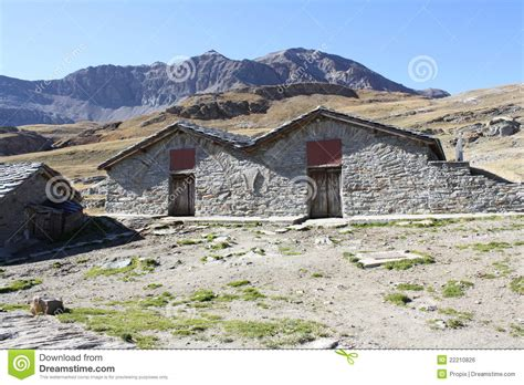 refuge house mountain refuge house in italian alps royalty free stock image image 22210826