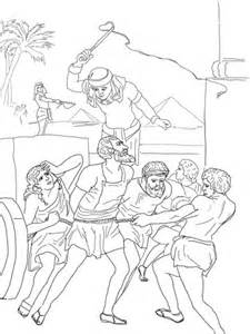 coloring pages moses killing egyptian egyptian enslavement of israelites coloring page