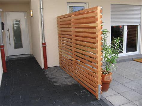 Sichtschutz Holz Terrasse by Z 228 Une Aus Holz Und Metall Teichbau Moseler Ihr