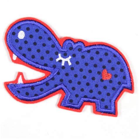 applique iron iron on applique hippo adelgund