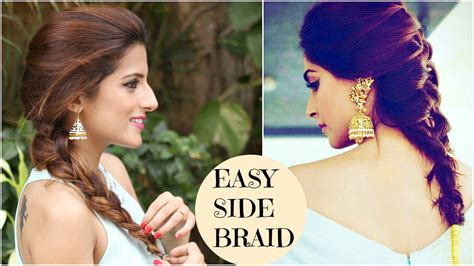 Side Twist Hairstyle by Sonam Kapoor S Easy Side Twist Hairstyle
