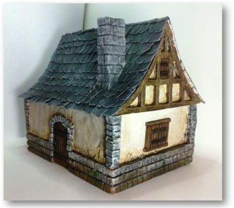 great medieval house plan miniatures pinterest how to medieval house for tabletop wargaming by