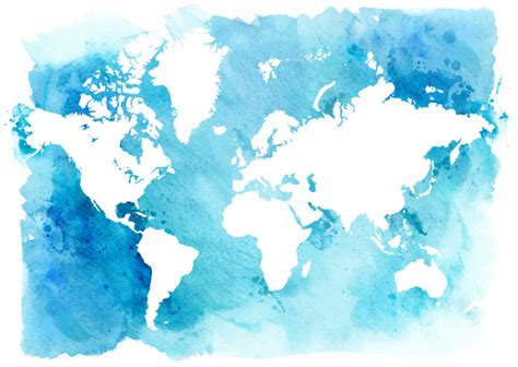 Watercolor world map vector 03   Vector Maps free download