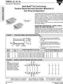 vishay vsr resistor vishay vsr resistor 28 images bulk metal 174 foil technology industrial precision resistors