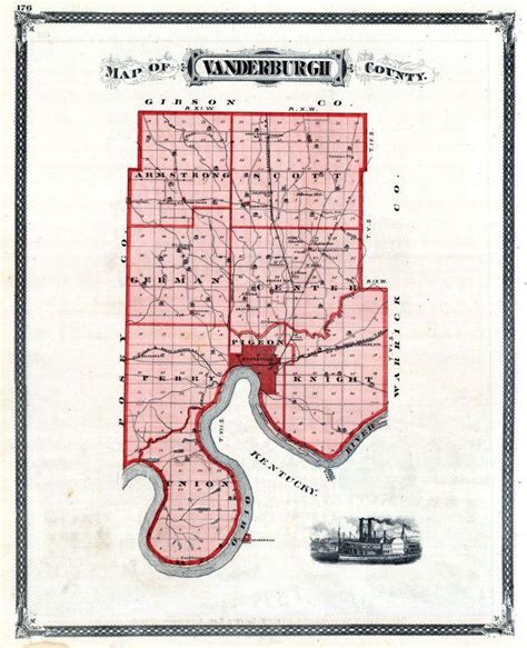 map of evansville indiana townships in vanderburgh county indiana