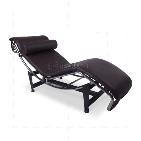 le chaise le corbusier style lc4 chaise longue brown leather