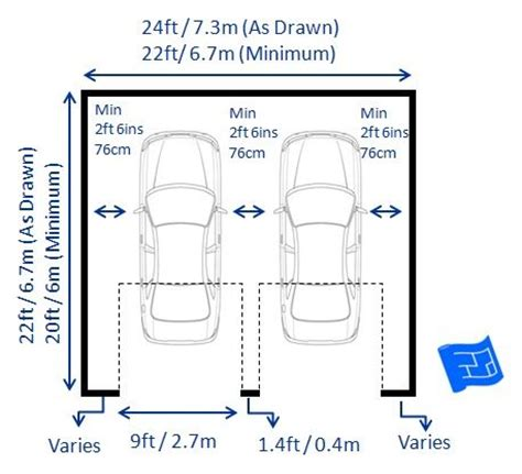 Single Car Carport Size Garage Dimensions With 2 Doors Including Garage