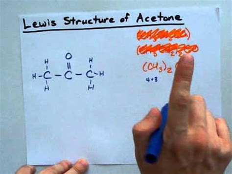 Lewis Structure of Acetone - YouTube (ch3) 2s Lewis Structure