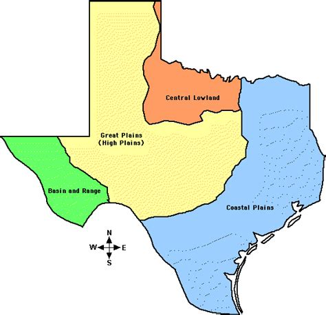 texas 4 regions map regions of texas map