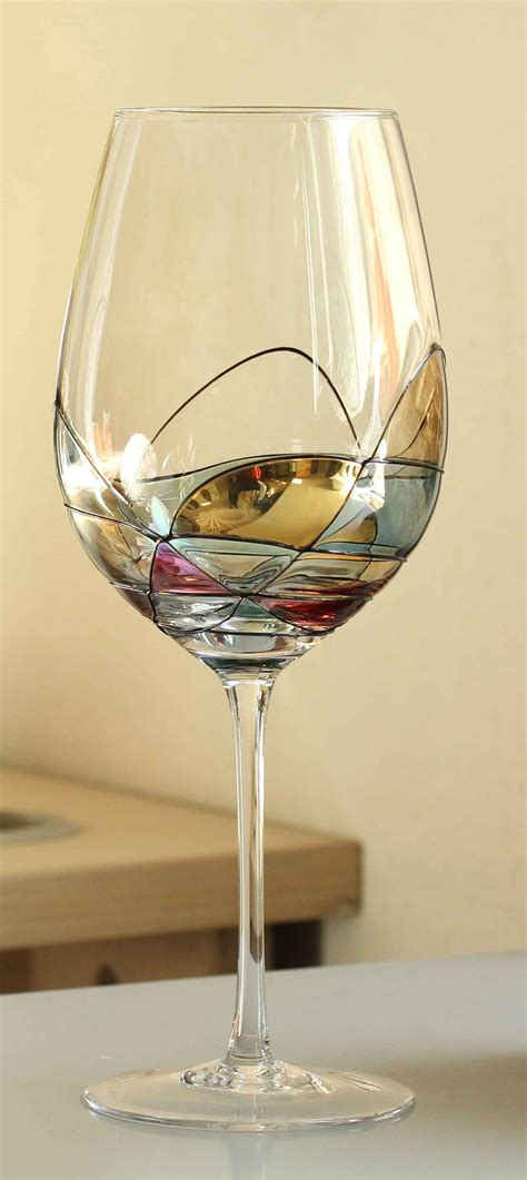 beautiful wine glasses beautiful hand painted wine glasses from valentina paris