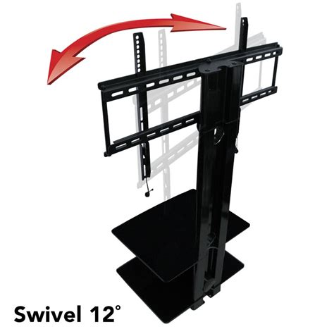 Tv Swivel Wall Mount With Shelf by Aeon Swiveling Tv Wall Mount With Two Shelves Between