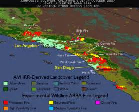 southern california wildfire map 4 day composite of the southern california fires 171 cimss