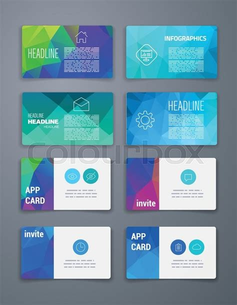 card web template template business card abstract geometric vector
