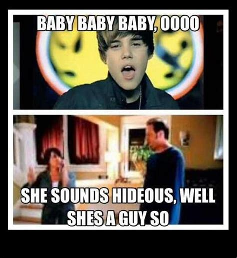 justin bieber she sounds hideous meme she sounds hidious dump a day