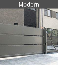 moderne zaunelemente l 214 we der zaunexperte freitragende schiebetore und