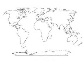 Outline Map Of The World To Print by Printable Blank World Outline Maps Royalty Free Globe Earth Free Printable World Map With