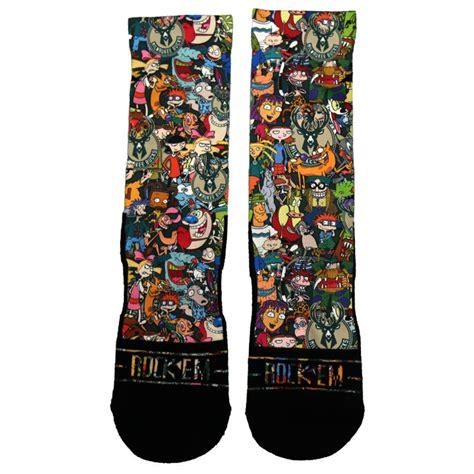 nba pattern socks the milwaukee bucks 90 s nickelodeon night collection