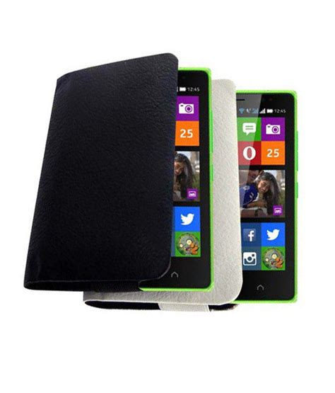 Casing Hp Nokia X2 Android acm rich leather soft carry for nokia x2 android mobile handpouch cover holder black