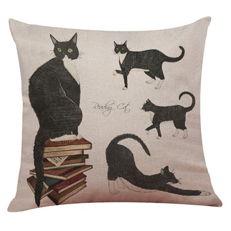 cat pillow bed cute cat sofa bed home square pillow case cushion cover