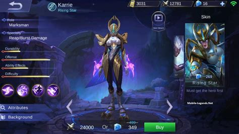 karie mobile legend karrie dangerous attack speed build 2019 mobile legends