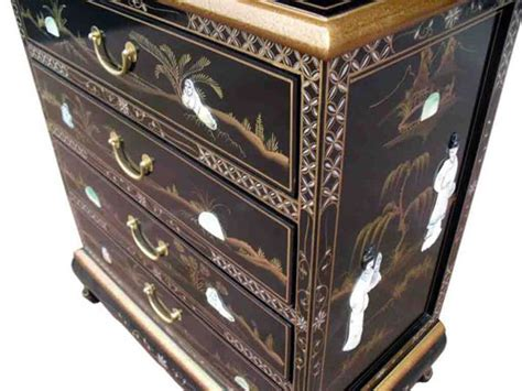 black chinese chest of drawers chinese black chest of drawers