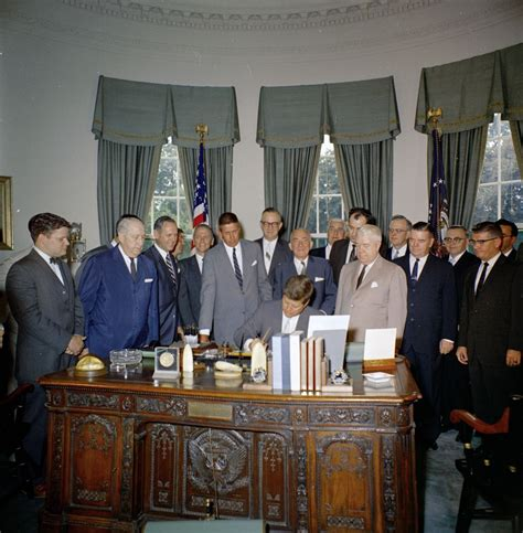kn c18519 president f kennedy signs s 857