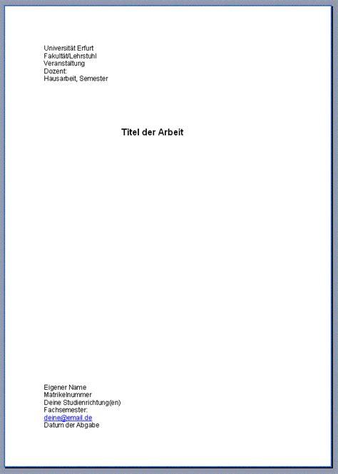 seminararbeit layout word deckblatt hausarbeit beste kauf f 252 r mich