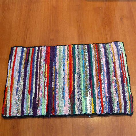 locker rug colorful recycled locker hook rug