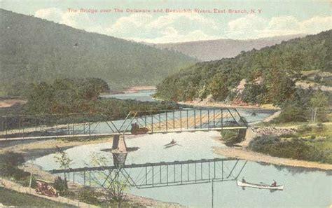 Bridge over the Delaware and Beaverkill Rivers, East ...