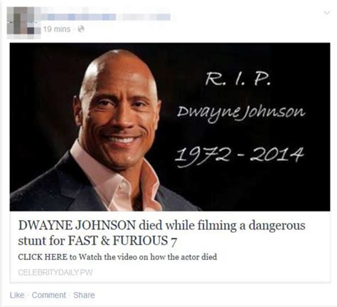 did the rock dwayne johnson died top 6 celebrity death hoaxes hype malaysia