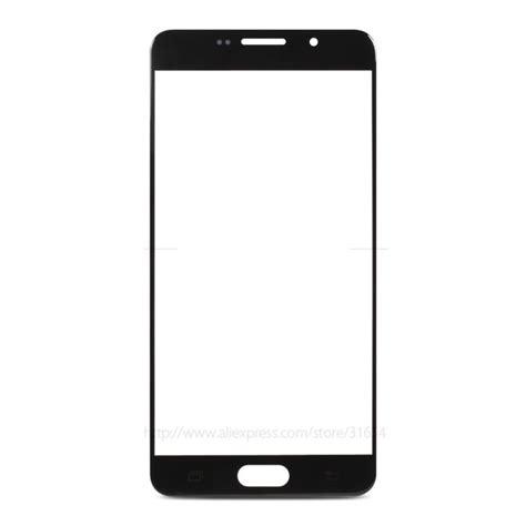 Vikento Tempered Glass For Samsung A7 2016 Black front glass replacement for samsung galaxy a7 2016 black