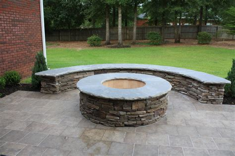 Outdoor Firepit Kits Woodburning Firepit Kit Patio Atlanta By My Outdoor Rooms