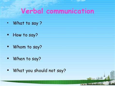 How To Say Mba In by Communication Skills Ppt Bec Doms Mba 1 St Sem