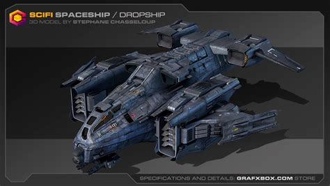 No Dropship by Scifi Spaceship Dropship