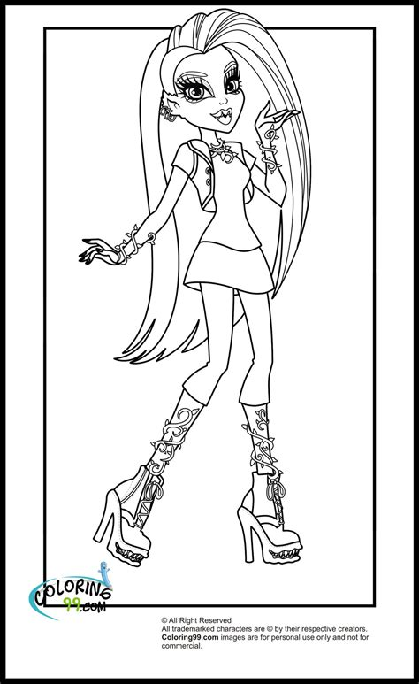 monster high coloring pages 38 free printable coloring pages