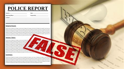 To False Records State Bill Seeking Harsher Penalties For False Reports