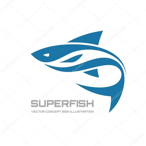 logo clipart fish vector logo concept illustration fish logo