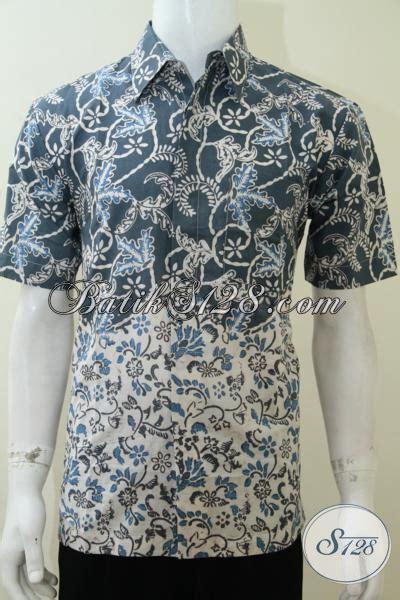 desain baju kerja keren busana batik kerja desain terbaru dua motif jadi satu