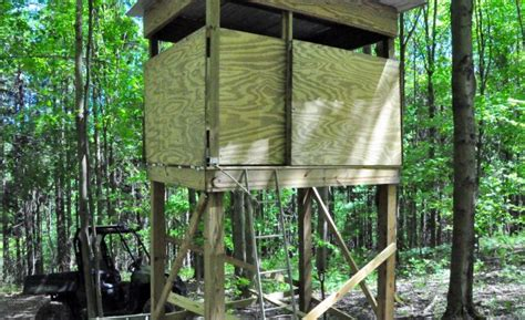 building  deer blind diy    tutorials   hunting  york ny